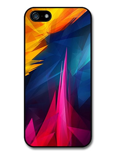 Abstract Shapes with Yellow and Pink Design Shards case for iPhone 5 5S