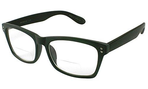 Lens Plastic Gray (Edge I-Wear Plastic Reader with Clear Bifocal Lens 540748TCB3.25-4(Matte GRAY/Matte BLK))