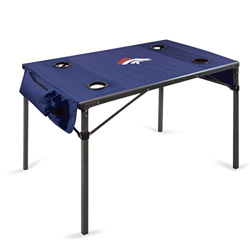 NFL Denver Broncos Portable Soft Top Travel Table, Navy
