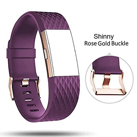 Db For Fitbit Charge 2 Bands Rose Gold Bucklecharge 2 Sport Replacement Bands Lavender Fitbit Charge 2 Accessory Wristbands Large
