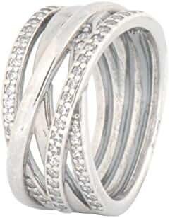 Pandora 190919cz-54 Silver Ring with Cubic Zirconia