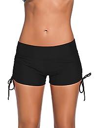 Aleumdr Women's Waistband Swimsuit Bottom Boy Shorts...