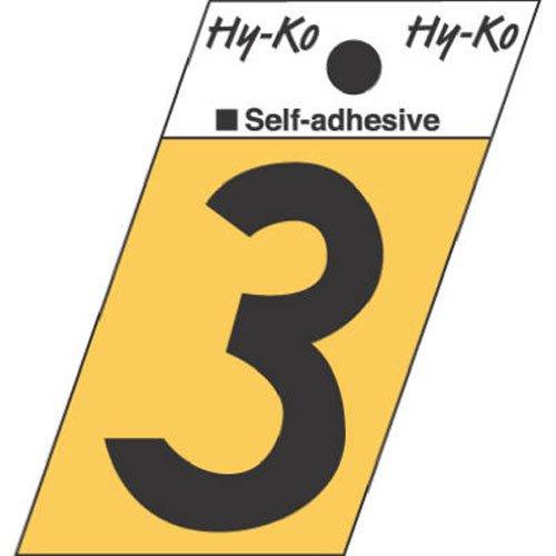Hy-ko gr-10/3signo ángulo de corte Número 3, 3,8cm Negro Aluminio