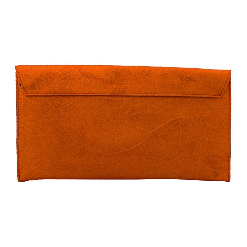 Suede Clutch Envelope Women's Orange Evening Bag wCqRBa5