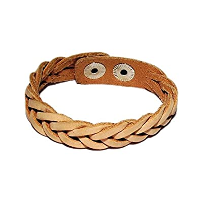 AUTHENTIC HANDMADE Leather Bracelet, Men Women Wristbands Braided Bangle Craft Multi [SKU001968]