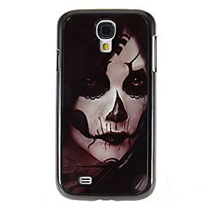 Scary Clown Pattern Mirror Smooth Back Hard Case with HD Screen Film 3 Pcs for Samsung Galaxy S4 I9500