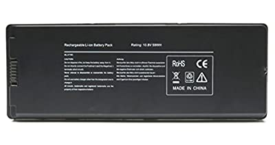 "Black A1185 Replacement Laptop Battery for Apple MacBook 13"" A1181 MA561 MA561FE/A MA561G/A MA561J/A [Rating: 10.8V 59Wh] by Skyvast"
