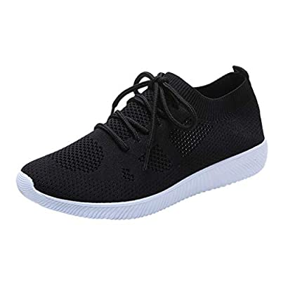 RAINED-Women Leisure Sneakers Outdoor Mesh Lace Up Sports Shoes Run Breathable Shoes Non-Slip Lightweight Running Shoes