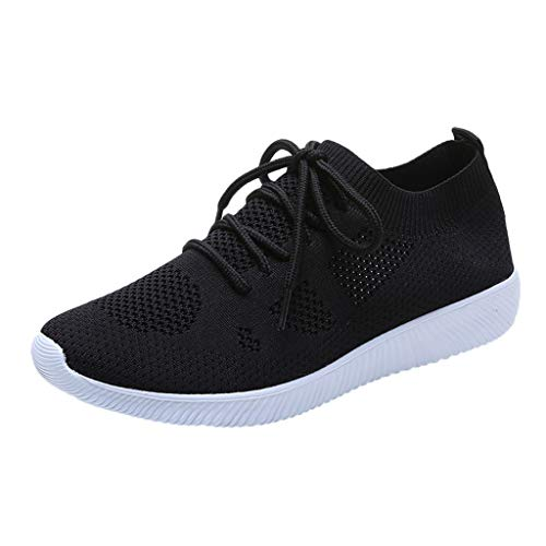 WEUIE Women's Fashion Sneakers Running Shoes Lace-up Breathable Mesh Casual Sport Shoes from WEUIE Women Shoes