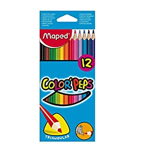 Color Pencils Set by Maped, 12 Pieces, MD-183212