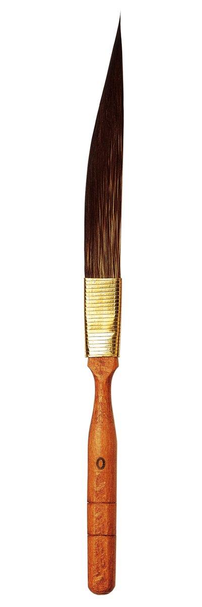 da Vinci Graphic Design Series 700 Pinstriping Brush, Tapered Sword-Shaped Kazan Squirrel Hair with Cedar Imitation Handle, Size 0