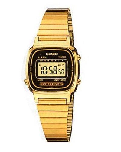 Casio Ladies Gold Tone Digital Watch Alarm Chronograph La670wga-1cr