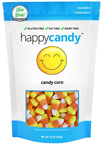 Happy Candy Candy Corn - Gluten Free, Fat Free, Dairy Free - Resealable Pouch (1 -