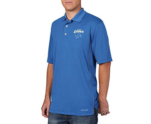 """Detroit Lions Majestic """"Field Classic"""" Men's Cool Base Polo Shirt - Blue"""