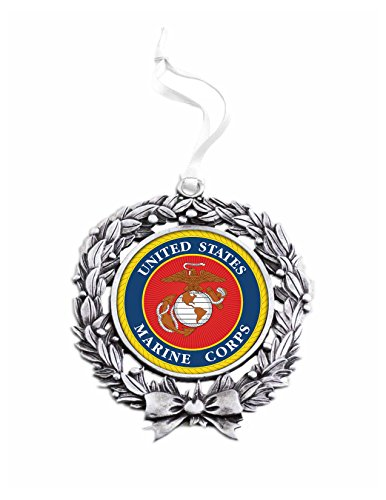 United States Marine Corps Sublimated Wreath Ornament (Marine Corps Wreath)