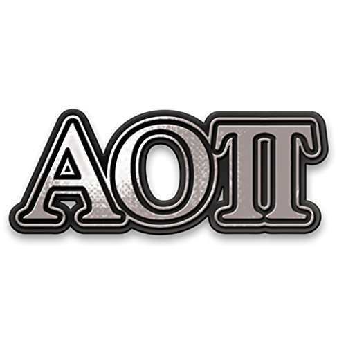 Alexandra and Company Chrome Car Emblem, Alpha Omicron Pi