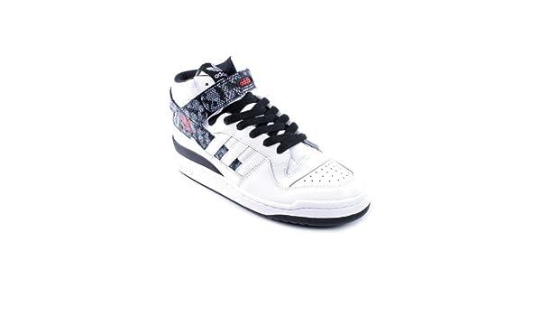 adidas Forum Mid - Zapatillas de Cuero para Hombre Blanco Runwht ...