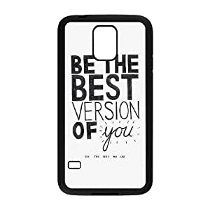 Samsung Galaxy S5 Cell Phone Case Black quotes be the best version of you LSO7771010