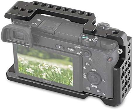 P Prettyia Sony Alpha A6000 A6300デジタルカメラ用アルミニウムカメラビデオケージ