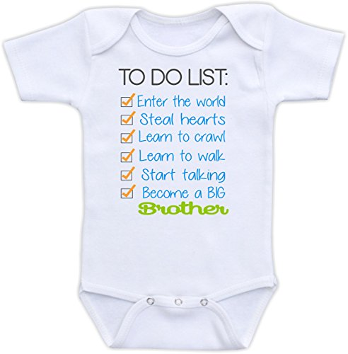 860ca4aea2 Amazon.com  Big Brother To Do List - Pregnancy Announcement Bodysuit   Clothing