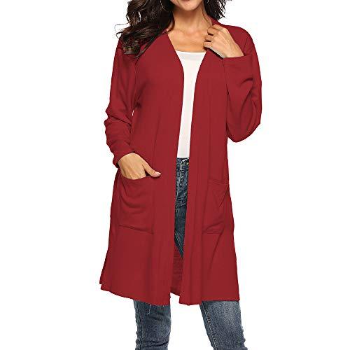 DBHAWK Women Autumn Casual Long Sleeve Large Pockets Shawl Irregular Tunics Top Blouse Outerwear Cardigan -