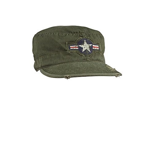 Mens Military Hat - Vintage Army Air Corp Fatigue Cap Olive Drab Large -Rothco