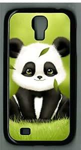 Cute Giant Panda-5 Sakuraelieechyan Samsung Galaxy S4 I9500 Black Sides Hard Shell Case(PC Material)