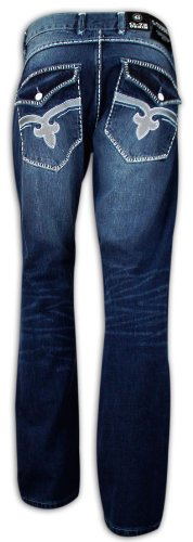 Wash Dark Jeans Uomo 72 G WTSgnH077