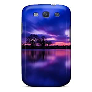 Mialisabblake Galaxy S3 Well-designed Hard Case Cover Dusk At Lake Purple Protector by lolosakes