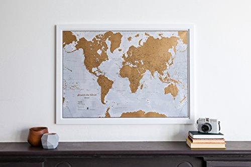 Scratch the World ® - Scratch Off Places You Travel! - Detailed Cartography - 33.11 x 23.39 inches