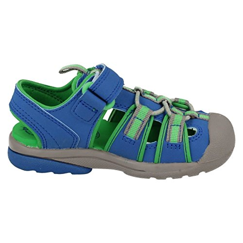 Clarks Beach Mate Boys First Sandal Shoes 5.5 Blue Synthetic