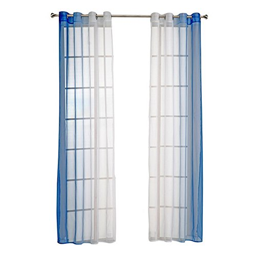 Urijk Semi Sheer Ombre Curtains, Set of 2, 55