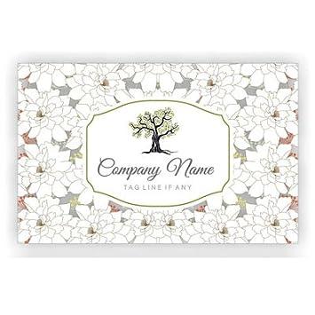 Designer Klassische Blumen Visitenkarte Personalisierte