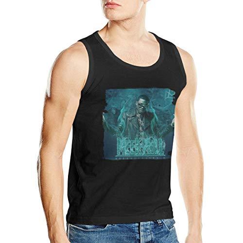 Hye D Riche Meek Mill-Dreamchaser Men's Music Band Fashion Training Tank Top Shirt Sleeveless Shirt Black ()