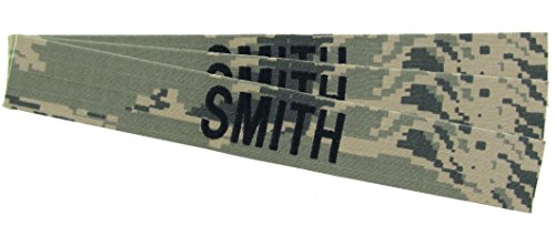 Air Force Uniform (Custom U.S. Air Force ABU Camo Name Tapes - 3 Pack USAF (RIPSTOP))