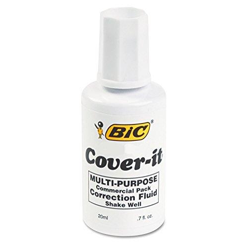 BIC Cover-It Correction Fluid Commercial 1 Each - Multi Purpose Correction Fluid