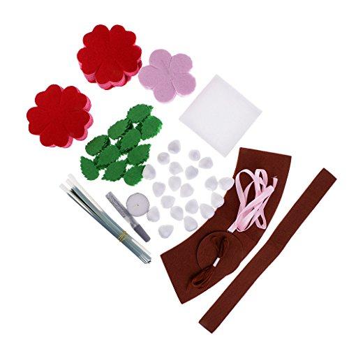 baosityクリエイティブ裁縫キットローズローズフラワーパターンフェルトキットDIY素材パッケージfor Kids Childrenの商品画像