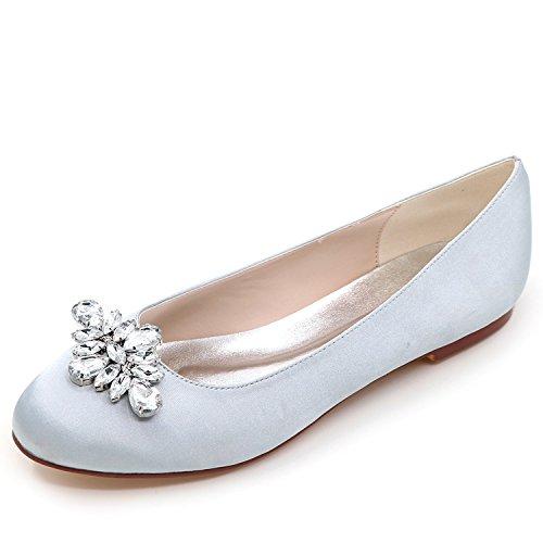 del Boda 0 Elobaby Zapatos De A Planos Bombas De Dedo Partido 6cm Mano Seda Mujeres Tal De Hecho Cerrado Las Nuevas EvqqrUSB