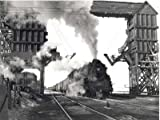 Photo Railroad Steam Locomotive Station Depot c1940