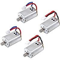 TechCode Upgraded 4pcs Motor with Brass Gear Rc Quadcopter Spare Parts for Syma X8c X8w X8g