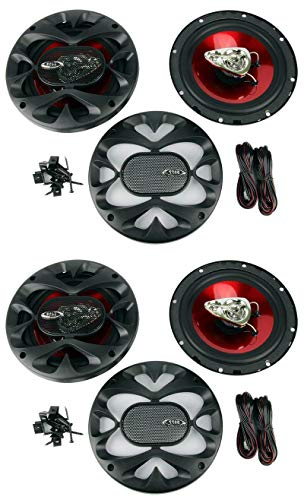 4) New BOSS CH6530 6.5' 3-Way 600W Car Audio Coaxial Speakers Stereo Red