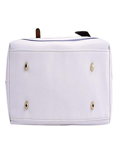 White blu Bag con Bolsos Mujer Para Coofit Asa Totes PU Cuero xqz1WOIv