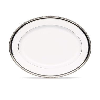 Noritake Austin Platinum Oval Platter, 12-Inch