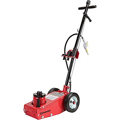 Strongway Air/Hydraulic Quick Lift Service Jack -22-Ton Capacity, 8 7/16in.-16 15/16in. Lift Range