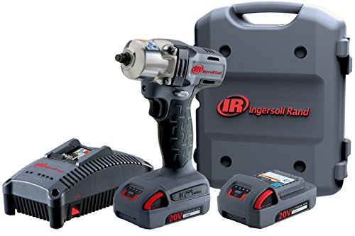 Ingersoll Rand W5130-K22 Mid-Torque Impactool with Charger, 2 Li-ion Batteries and Case Kit, 3/8