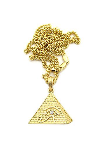 Egyptian Micro Eye of Horus in Pyramid Pendant 3mm 24