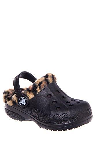 crocs 16239 Baya Lpd Liner Clog (Toddler/Little Kid),Onyx/Gold,12 M US Little Kid
