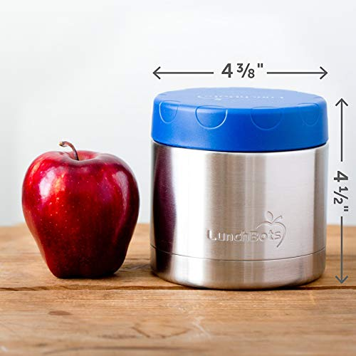 LunchBots Wide Thermal 16 oz. All Stainless Steel Bowl - Insulated Food Container Stays Hot 6 Hours or Cold for 12 Hours - Leak Proof Soup Jar for Portable Convenience - Blue by LunchBots (Image #2)