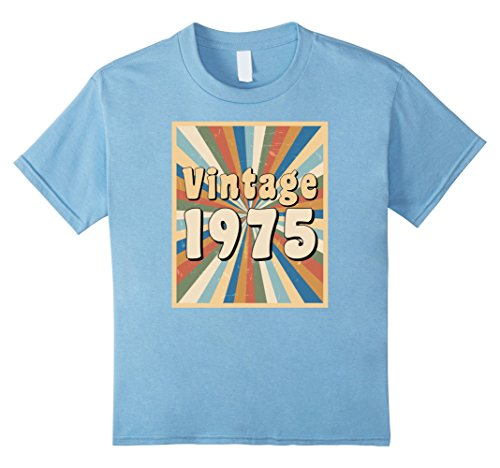 Kids Vintage 1975 t-shirt with retro 1970s look 4 Baby (70s Look For Girls)