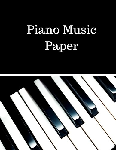 Piano Music Paper: Treble Clef And Bass Clef Empty 12 Staff, Manuscript Sheets Notation Paper For Composing For Musicians,Teachers, Students, Songwriting. Book Notebook Journal 100 Pages - Music Staff Treble Clef